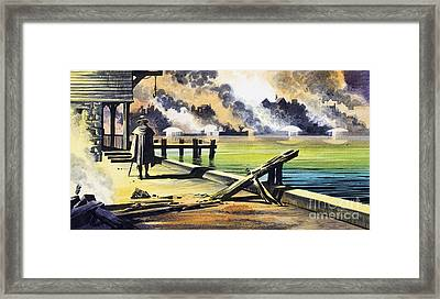 The Great Fire Of London Framed Print by Ron Embleton