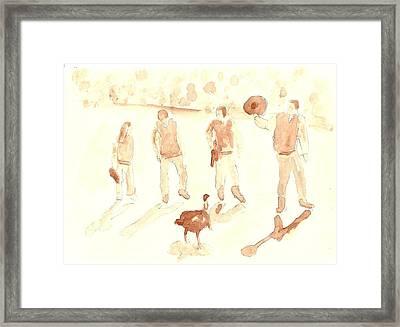 The Great Gobbler Gallop Framed Print by Matt Gaudian