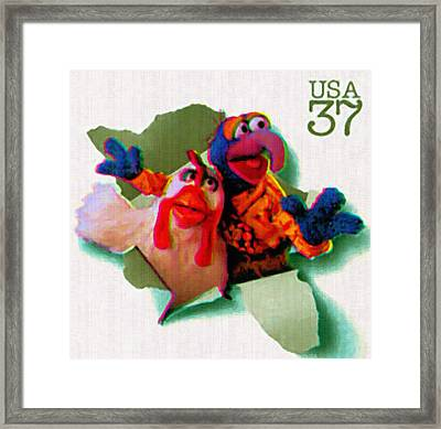 The Great Gonzo And Camilla The Chicken Framed Print by Lanjee Chee