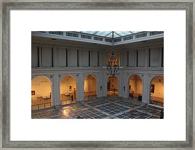 The Great Hall - Brooklyn Museum Of Art Framed Print by Dora Sofia Caputo Photographic Art and Design