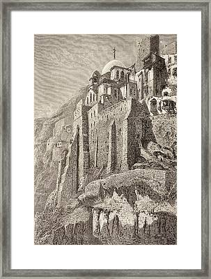 The Great Lavra Of St. Sabbas The Framed Print