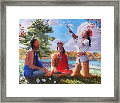 The Great Law Of Peace Framed Print by Steve Simon