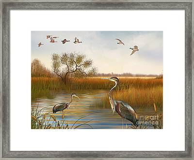 The Great Marsh-jp2860 Framed Print by Jean Plout