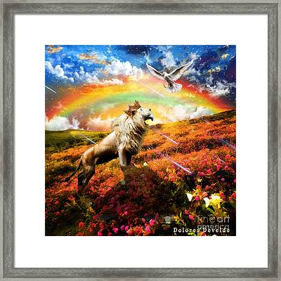 The Great Out Pouring  Framed Print by Dolores Develde