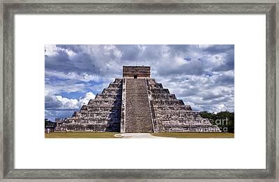 The Great Pyramid Of Chitzen Itza Framed Print