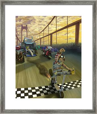 The Great Race Framed Print by Nicholas Bockelman