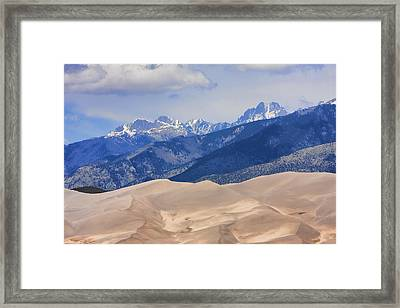 The Great Sand Dunes Color Print 45 Framed Print