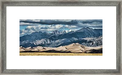 The Great Sand Dunes Panorama Framed Print