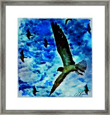 Framed Print featuring the painting The Great Seagull by Joan Reese