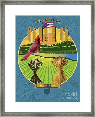 The Great Seal Of Ohio Framed Print