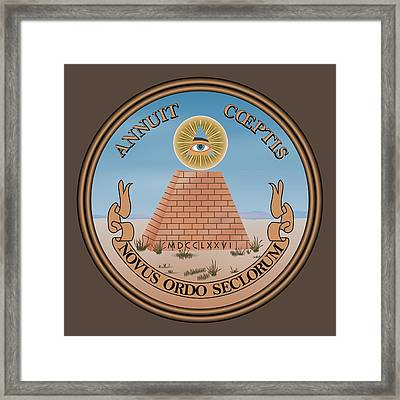 The Great Seal Of The United States Reverse Framed Print