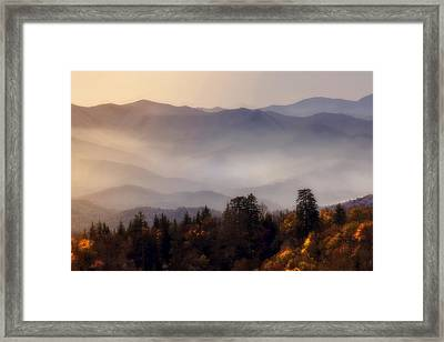Framed Print featuring the photograph The Great Smoky Mountains by Ellen Heaverlo
