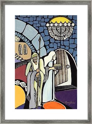 The Great Synagogue Of Jerusalem  Framed Print by Maya Green