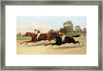 the Great Ten Thousand Dollar Match Framed Print by Henry Stull