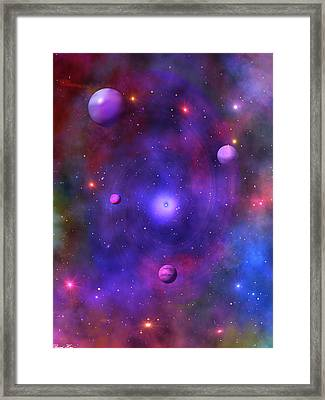 Framed Print featuring the digital art The Great Unknown by Bernd Hau