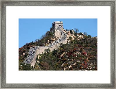 The Great Wall Mountaintop Framed Print