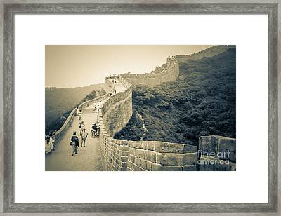 Framed Print featuring the photograph The Great Wall Of China by Heiko Koehrer-Wagner
