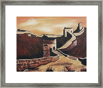 The Great Wall Of China Framed Print by Suzanne  Marie Leclair