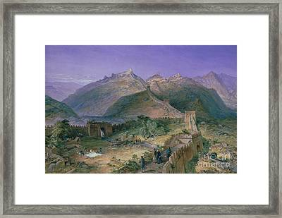 The Great Wall Of China Framed Print by William Simpson