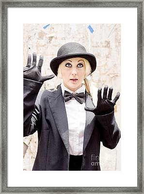 The Great Wall Of Mime Framed Print