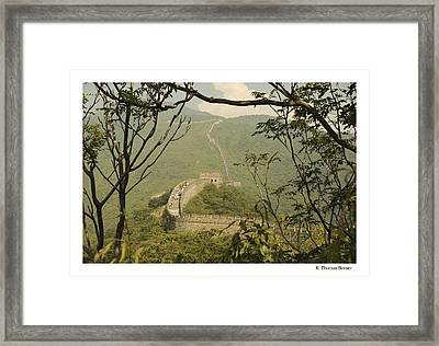 Framed Print featuring the photograph The Great Wall by R Thomas Berner