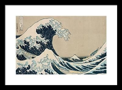 The Wave Framed Prints