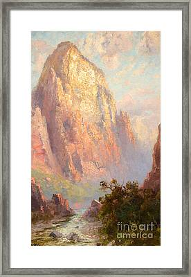 The Great White Throne Framed Print by MotionAge Designs