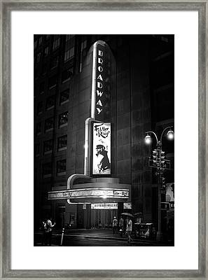 The Great White Way Framed Print
