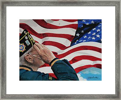The Greatest Generation Framed Print by Bill Dunkley