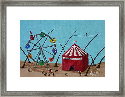 The Greatest Show On Fido Framed Print