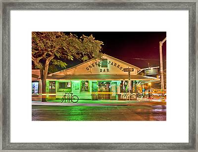 The Greeen Parrot Framed Print by Scott Meyer
