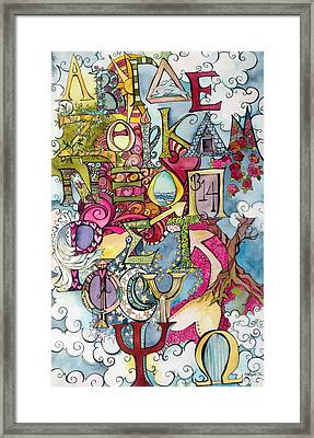 The Greek Alphabet Framed Print