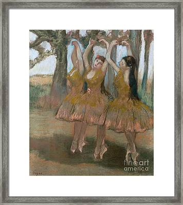 The Greek Dance Framed Print by Edgar Degas