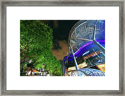 The Green And Concrete Framed Print by Ng Hock How