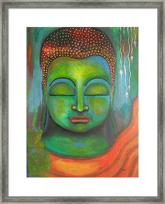 The Green Buddha Framed Print