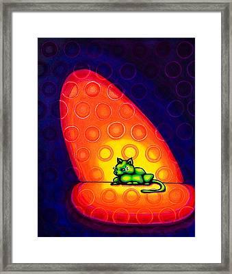 The Green Cat Framed Print