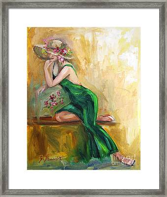 The Green Charmeuse  Framed Print by Jennifer Beaudet
