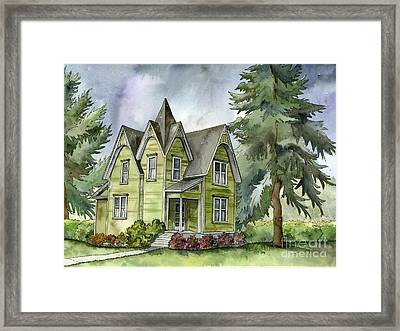 The Green Clapboard House Framed Print