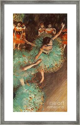 The Green Dancer Framed Print