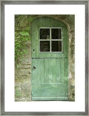 The Green Door Framed Print by Bob Phillips
