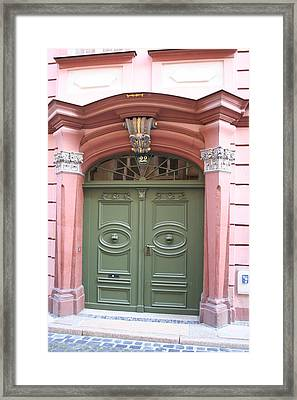 The Green Door Framed Print by Christiane Schulze Art And Photography