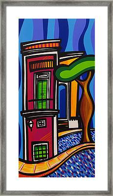 The Green Door Framed Print by Mary Tere Perez