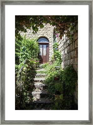 The Green Entrance Framed Print