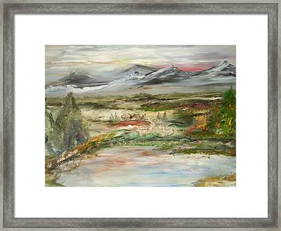 The Green Field Pond Framed Print by Edward Wolverton