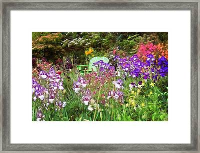 Framed Print featuring the photograph Hiding In The Garden by Thom Zehrfeld