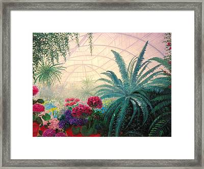 The Green House Framed Print by Jeanene Stein
