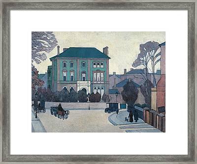 The Green House, St John's Wood Framed Print by Robert Bevan