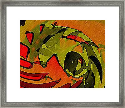 The Green Iguana Framed Print by Terry Mulligan