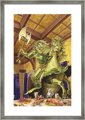 The Green Knight Framed Print by Melissa A Benson