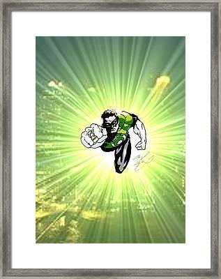 The Green Lantern Framed Print